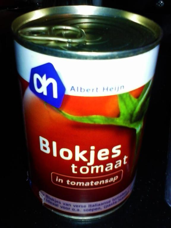 Blokjes Tomaat