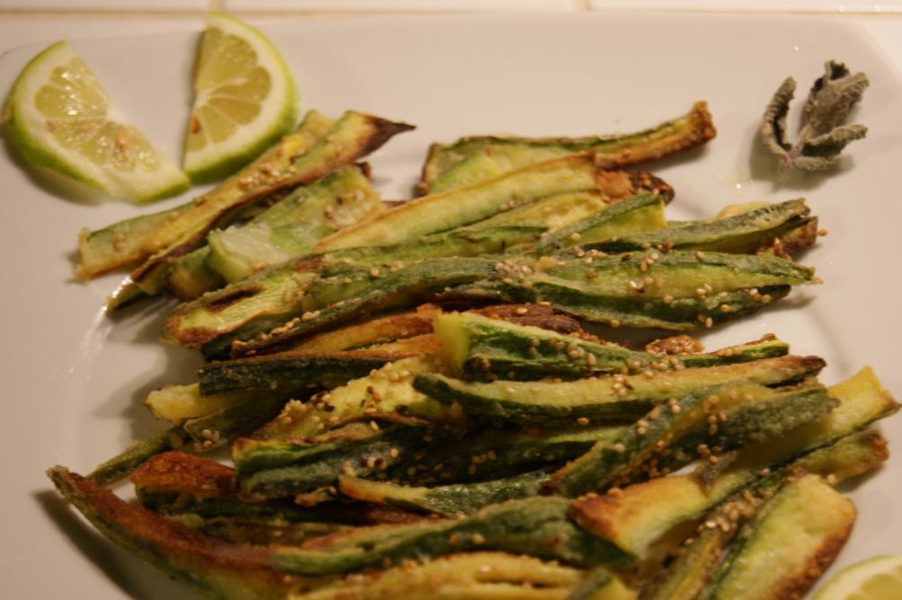 Finta frittura di zucchine